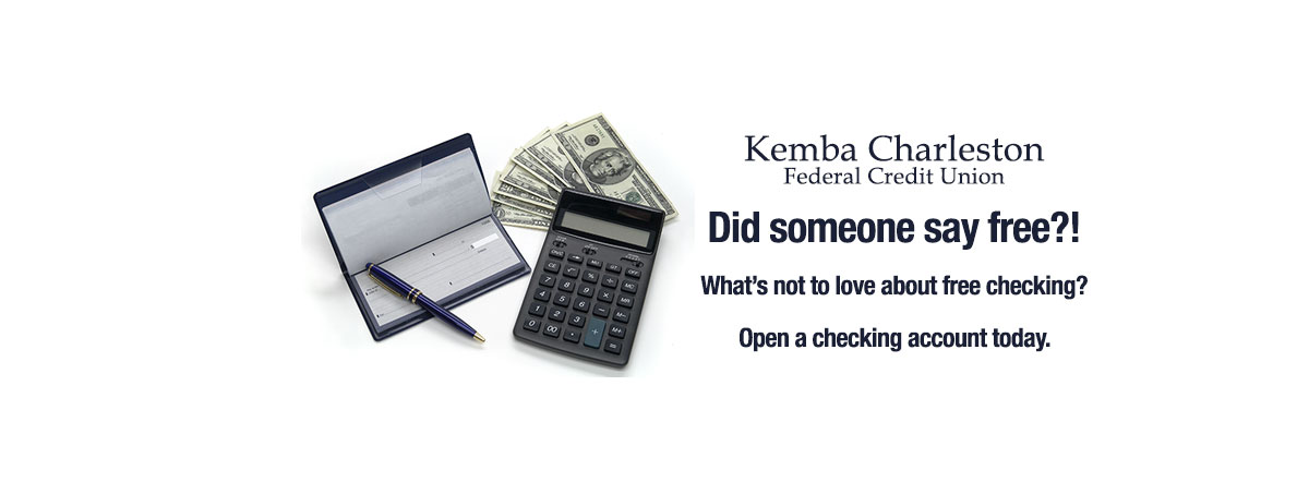Did someone say free?! What's not to love about free checking? Open a checking account today.