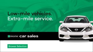 Low- mile vehicles. Extra-mile service. Enterprise Car Sales. Browse selection.